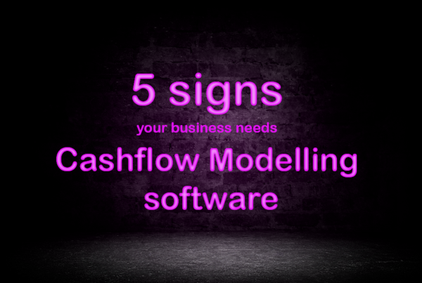5 signs your business needs cashflow modelling software neon sign