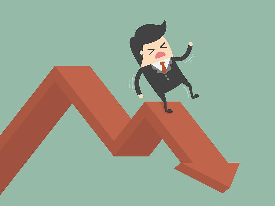 business chart falling stochastic deterministic cashflow model