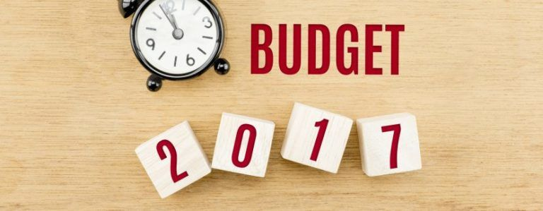 It's that time of year again… 2017 Budget Update