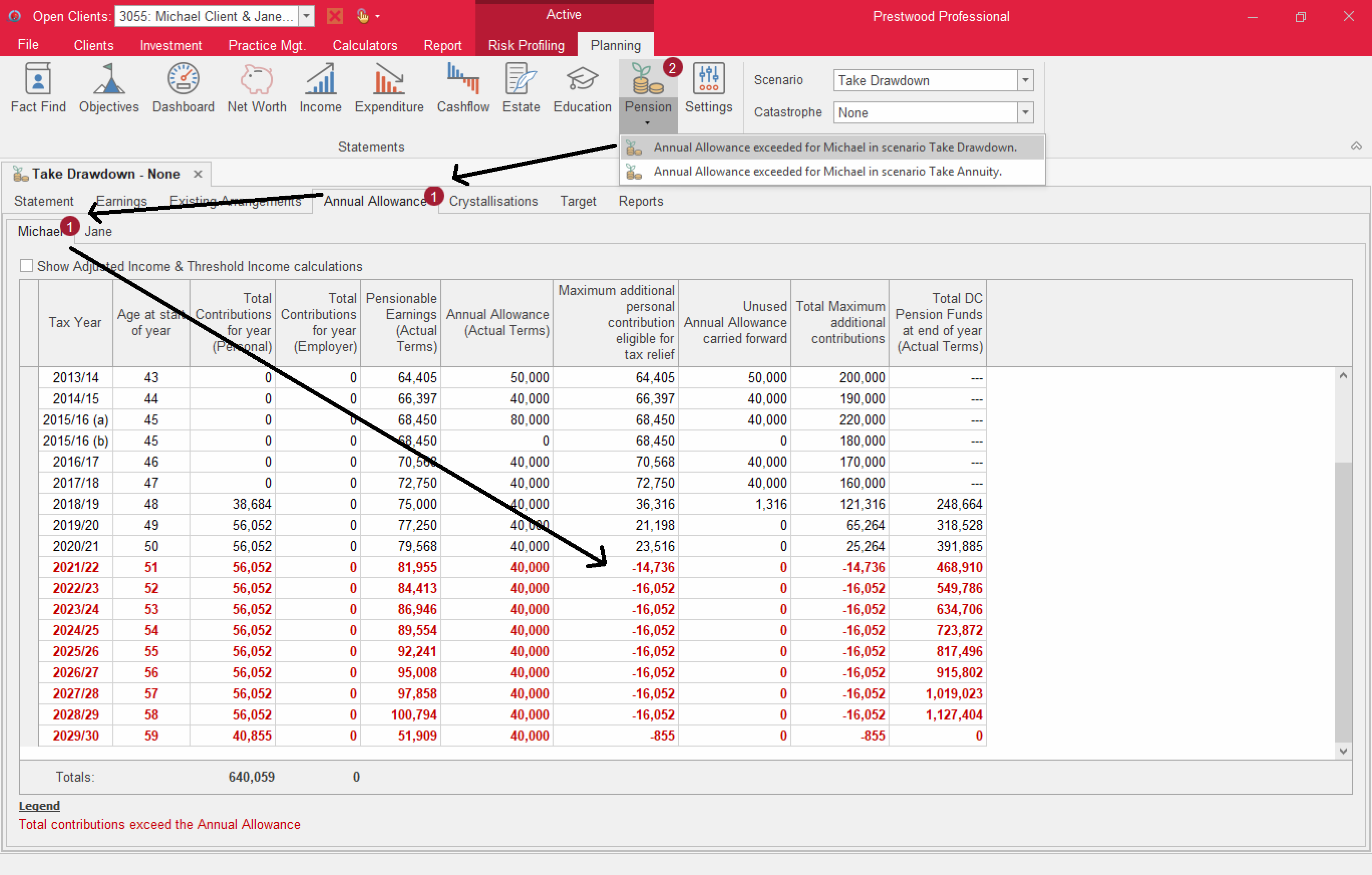 prestwood truth software cashflow release notes pension statement warnings fix tool update